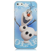 Super Cute 3D Cartoon Movie Frozen Snow Man Olaf Hard Plastic Case Cover For iPhone 4 4s 5 5g 5s