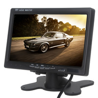 7 Inch 800 x 480 TFT LCD RGB Color Digital Display 2 Video Input RearView Headrest Car VCR Monitor For Rear View Camera