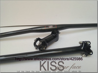 MTB bike bicycle carbon fibre flat handlebar+ seatpost+ stem =1 lot bicycle parts