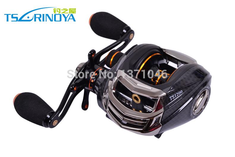 Trulinoya Fishing Reel TS1200 14 BB Baitcasting Reel Casting Reel Baitrunner Fishing Gear Right Hand Black Color, Red Color(China (Mainland))