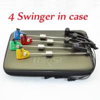 Carp Fishing swinger in case illuminated swinger led 4pcs colors in Eva fishing case free shipping