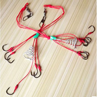 2 pack = 4pcs High Quality Sharp Fishing Hook Perfect Capture Ability Explosion Hook Fishing Tackle D6021