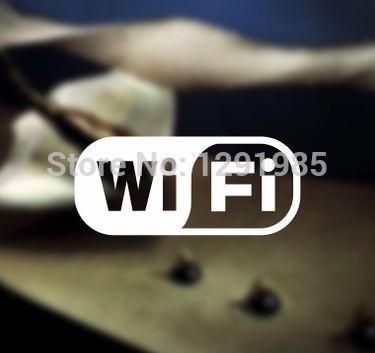 free wifi wireless Internet access sign wall vinyl sticker custom made shop cafe home show window decoration 2015 fashion(China (Mainland))