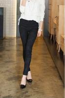 K820 Korean lace elastic waist pencil pants big yards thin outer wear thin leggings pants female feet tide
