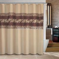 Bathroom products Fabric Shower Curtain180x180cm bath curtain bathroom products waterproof  Leopard zebra