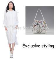 Floral digital print designer handbags top quality bags flower handbags women famous brands designer shopping bags