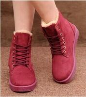 2014 Real Limited Medium(b,m) Winter Botas Femininas Knee High Boots Pu Women's Outdoor Flat Heel Snow Boots (more Colors) X095
