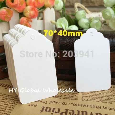 70*40MM/New vintage White colour MINI Kraft paper Tag/DIY Multifunction CARD/Wholesale(China (Mainland))