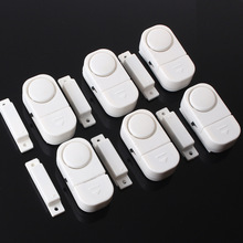 High quality White color 6 Wireless Home Window Door Entry Burglar Security Alarm System Magnetic Sensor