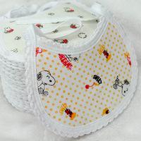 Free Shipping 10pc/lot 100% Cotton Baby Bib Infant Saliva Towels Carter's Baby Lunch Bibs Cute Cartoon