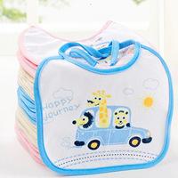 Free shipping (3 Colors) 100% Cotton Toddler Carter's Burp Cloths Waterproof Bib Infant Animal Saliva Towels
