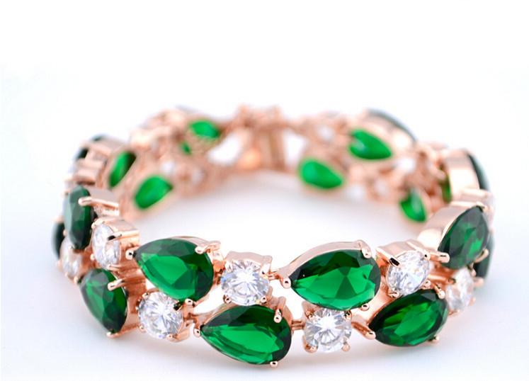 Mona lisa mode vintage mode aaa zircon bracelet en cristal coloré femelle, accessoires