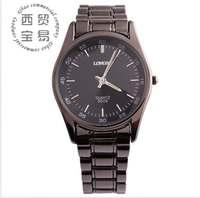 Fashion high quality new 2014 wholesale Men's business full stainless Luminous Quartz waterproof steel strap wrist watch LB8506