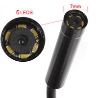 Hot! Portable 5m Cable 7mm Lens Waterproof Mini USB Endoscope Inspection Camera Borescope Tube Snake Scope 6 LEDs