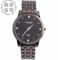 HOT new 2014 wholesale Men's business full stainless Rhinestone Quartz waterproof steel strap wrist watch LB8522