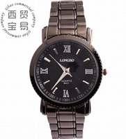 Fashion new 2014 wholesale Men's business Luminous stainless Roman numerals Quartz waterproof steel strap wrist watch LB8507