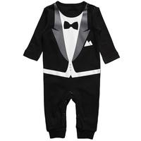 5 Pcs Wholesale Price Kid Baby Boy Cotton Gentleman Romper Jumpsuit Clothes Outfit 6-24M 2014 New Fashion