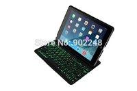 Original Brand Portable Mental Aluminium Ultra Thin Mute Wireless Bluetooth Backlight Keyboard Cases For Apple ipad 5 Air F5S/F5