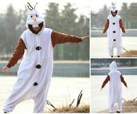 New Arrival Anime Fashion Pajamas Pyjama Frozen Olaf Snowman Cosplay Costumes Adult Onesie Party Dress