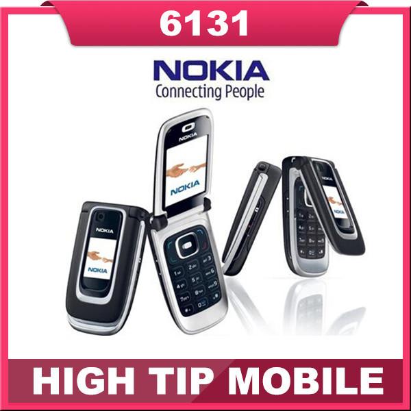 Original Nokia 6131 Unlocked cell phone support russian keyboard russian menu free shipping Refurbished one year warranty(China (Mainland))