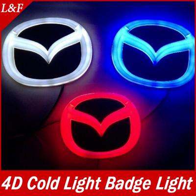 Free Shipping Mazda 3 Waterproof 4d cold light badge light Mazda 6 Car badge Rear lights Car accessories(China (Mainland))