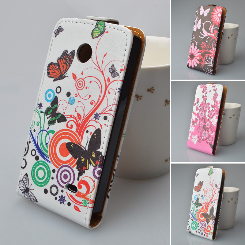 Printing Cute Pattern Leather Case for Nokia X Flip Cover 5 Colors Available(China (Mainland))
