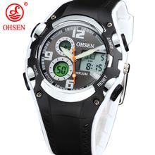 Original a estrenar OHSEN reloj Digital del deporte de los niños de los muchachos niños a prueba de agua banda de silicona pantalla Digital relojes moda