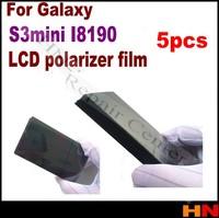 5pcs  for GALAXY SIII S3 Mini I8190 LCD Polarizer Film Polarization light Polaroid Film free shipping