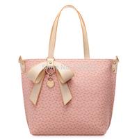 Free Shipping 2014 HOT! Pink PVC Fashion Luxury Lady Ladies Women's Bags Woman Shoulder Handbag Bowknot Peach Heart bag