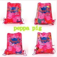 2014 new most popular Pepe pig children school bags,high quality beach backpack kids girls boys bag with 2 string 03