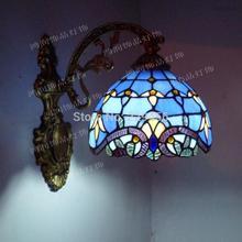 Fashion Tiffany Wall Lamp European Baroque Style Aisle Mirror Stained Glass Lighting E27 110-240V(China (Mainland))