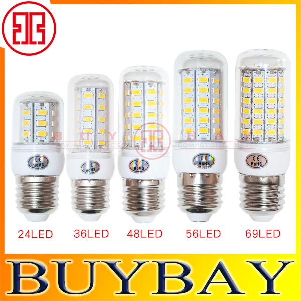 E27 light SMD5730 9W 12W 15W 20W E27 led bulb 220V/110V Warm White/ white, 24LEDs 36LEDs 48LEDs 56LEDs 5730 Led lamp Corn Light(China (Mainland))