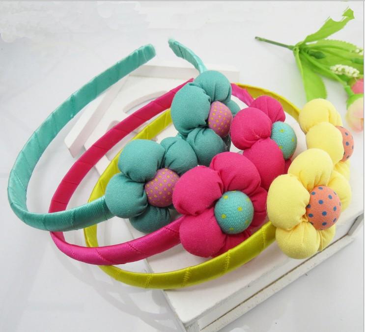 2014 New Arrive child flower Headbands Girl's Headwear children Hair Accessories Hair Band gift FD061(China (Mainland))