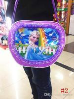 Retail Girls Frozen bags Children Fashion Cartoon handbags kids Small shoulder bags children day's gift children frozen purse