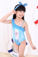New Frozen Children Kids Girls Frozen Swimsuit One Pieces Swim Bodysuit Frozen Anna and Elsa Swimsuit Swimwear Free Shipping