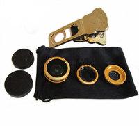 Universal 3 in 1 Fish Eye lens Wide Angle Macro lens Mobile Phone Lens Camera kit for i9300 i9500 N7100 note2 3 iphone lens