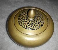 Very rare Ancient craft antique fine Handmade Brass censer  By The master of modern art imitation Ming process