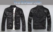Factory Men Leather Jacket Real Genuine Sheepskin Brand Black Male Biker Motorcycle Winter Coat Outwear Outdoors Jaqueta ZH031(China (Mainland))