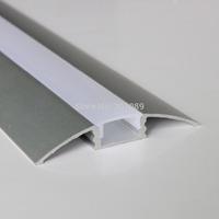 10m (10pcs) a lot, 1m per piece, Anodized diffuse cover led strip profile aluminum AP5208