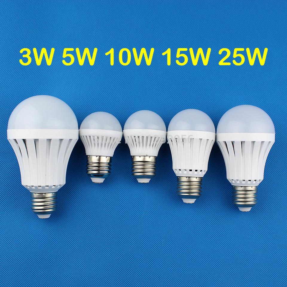 led lamp e27 led e27 3W 5W 10W 15W 25W LED Bulbs 220V 230V 240V Cold white warm white LED lights(China (Mainland))