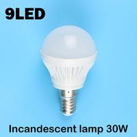E14 9LEDS SMD 5730 (Incandescent lamp 30W) 220V - 240V Warm white cold white led lamp