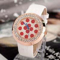 Romantic Girls Wave Point Crystal Watches Super Fashion Extravagant Brand Women Dress Wristwatch Quartz RelojFree shipping NW201