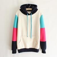 2014 Winter New Korean Casual Women's Hooded Sweater Fleece Pullover Sweaters