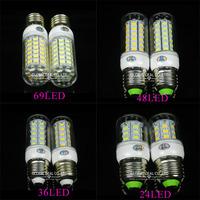 E27 SMD5730 chandelier 9W 12W 15W 18W E27 led bulb lamp Warm White/white, 24LEDs 36LEDs 48LEDs 56LEDs 5730 220V/110V led Light
