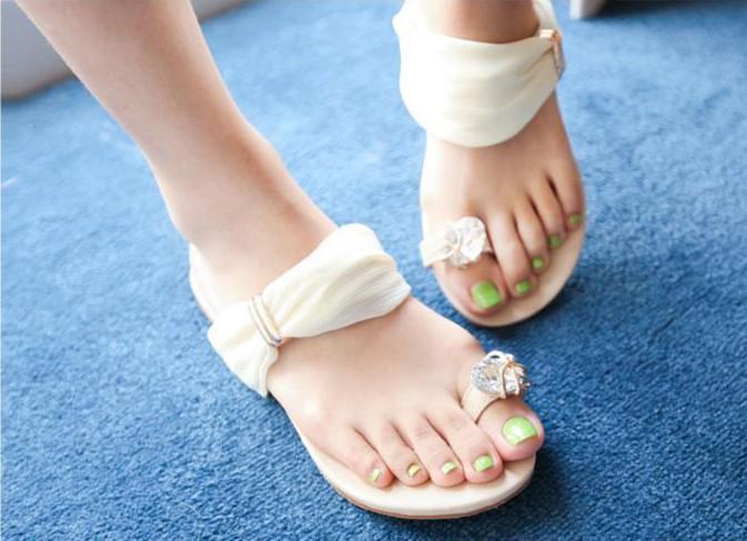 Nouvelles sandales appartements 2014 été, doux plat femmes talon chaussures 3 plage, couleurs livraison gratuite