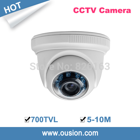 2014 promotion seconds kill ip outdoor cmos 5-10m ir distance 3.6mm lens security color plastic dome camera ird86-66(China (Mainland))