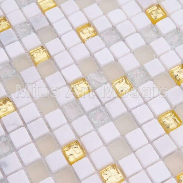 [Mius Art Mosaic] Pure gold glass mosaic Bisazaa tile stone mosaic A5TC-1303(China (Mainland))