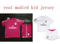 Real Madrid kid jerseys 14 15 season children football shirt and shorts real madrid 2015 little boys girls soccer jersey child