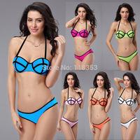 2014 triangl style swimwear  Hot sell swim suit Women's Swimwears fashion triangl style Bikinis push up bikini set Free Shipping