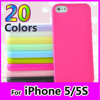 12pcs/lot Blank 20 Color in Stock Phone Case Cover For Apple Iphone 5/5s